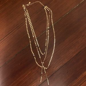 BaubleBar Jewelry - Baublebar AMBER LAYERED Y-CHAIN NECKLACE-GOLD